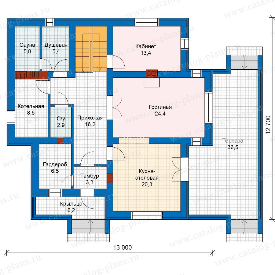 1этаж. План проекта №57-49