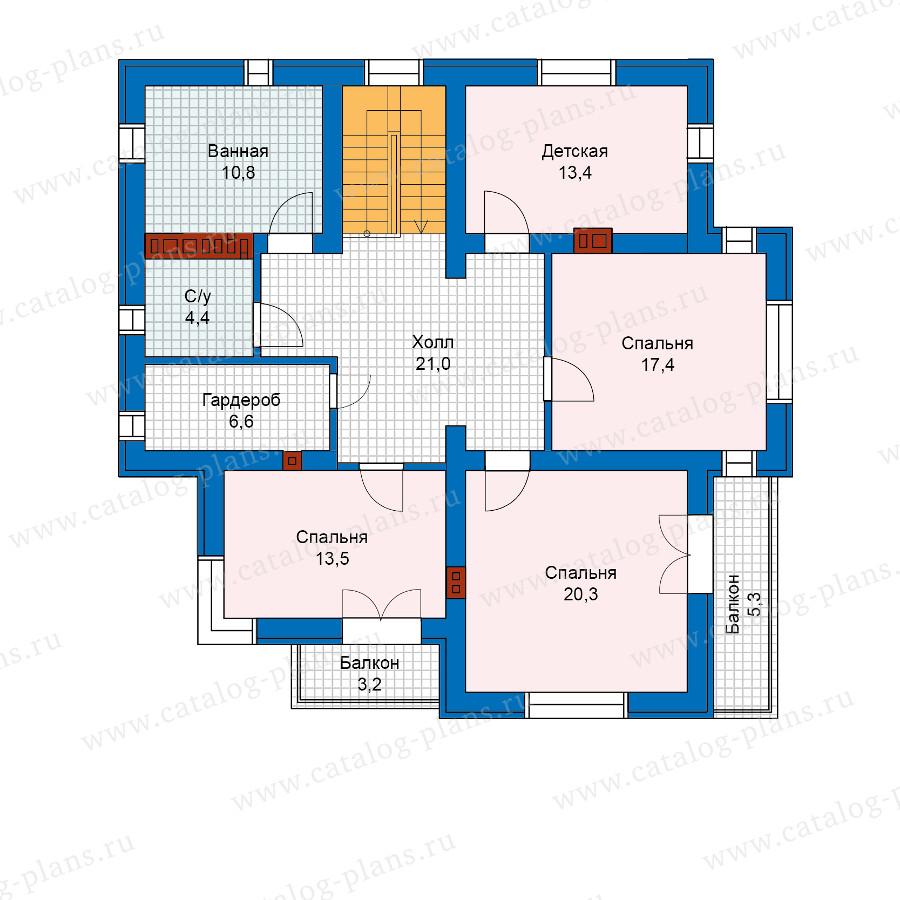 2этаж. План проекта №57-49L