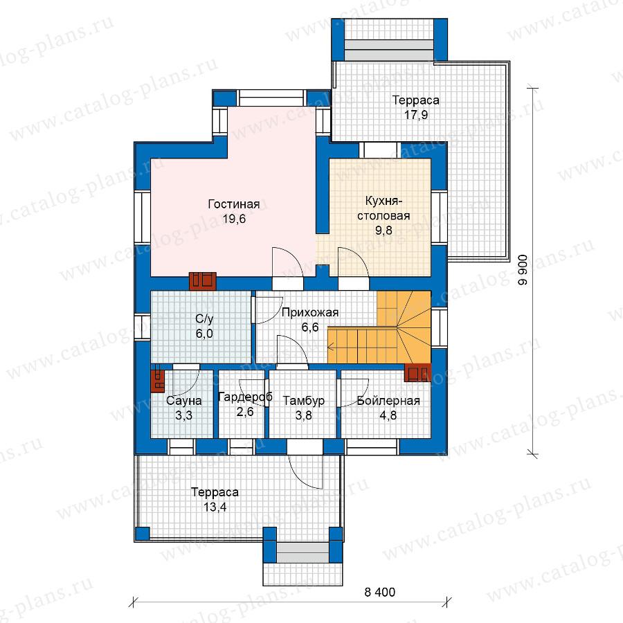 1этаж. План проекта №57-51