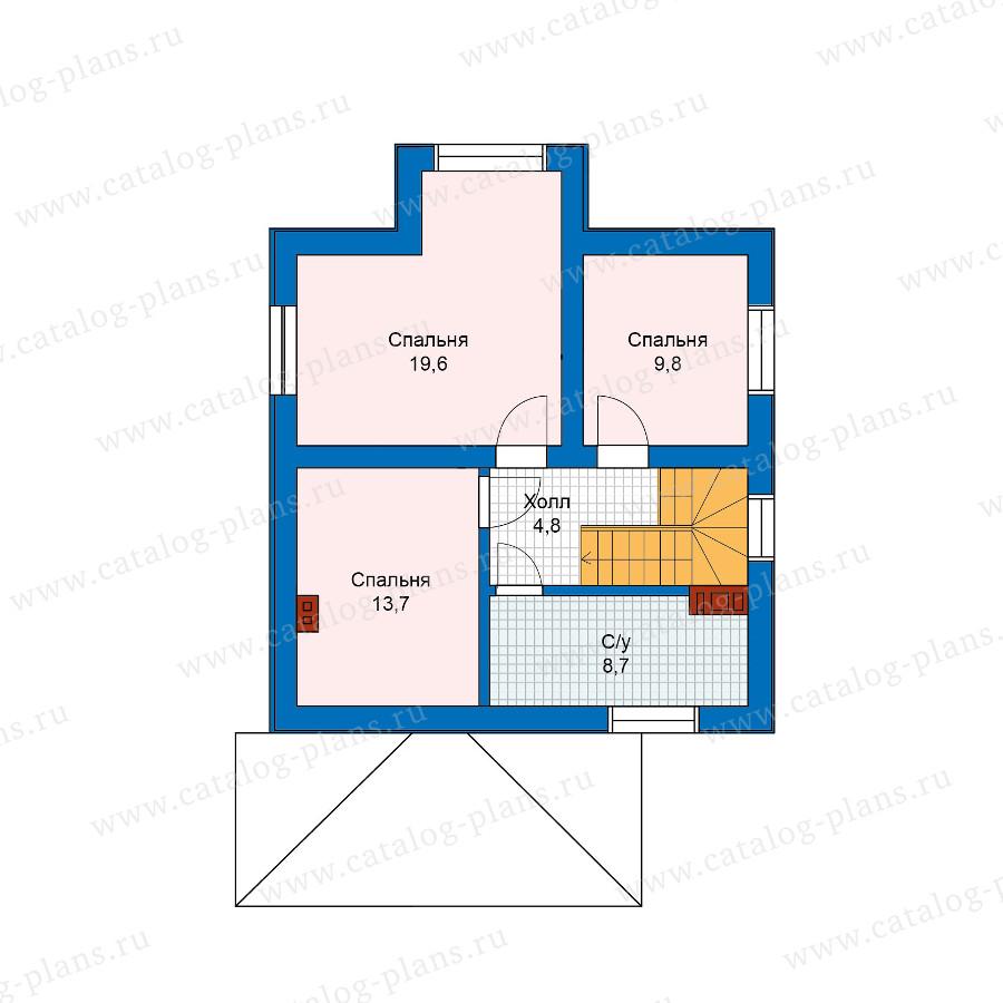 2этаж. План проекта №57-51
