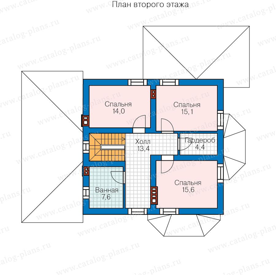2этаж. План проекта №57-52A