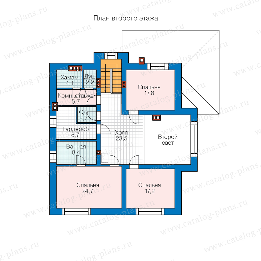 2этаж. План проекта №57-54AK