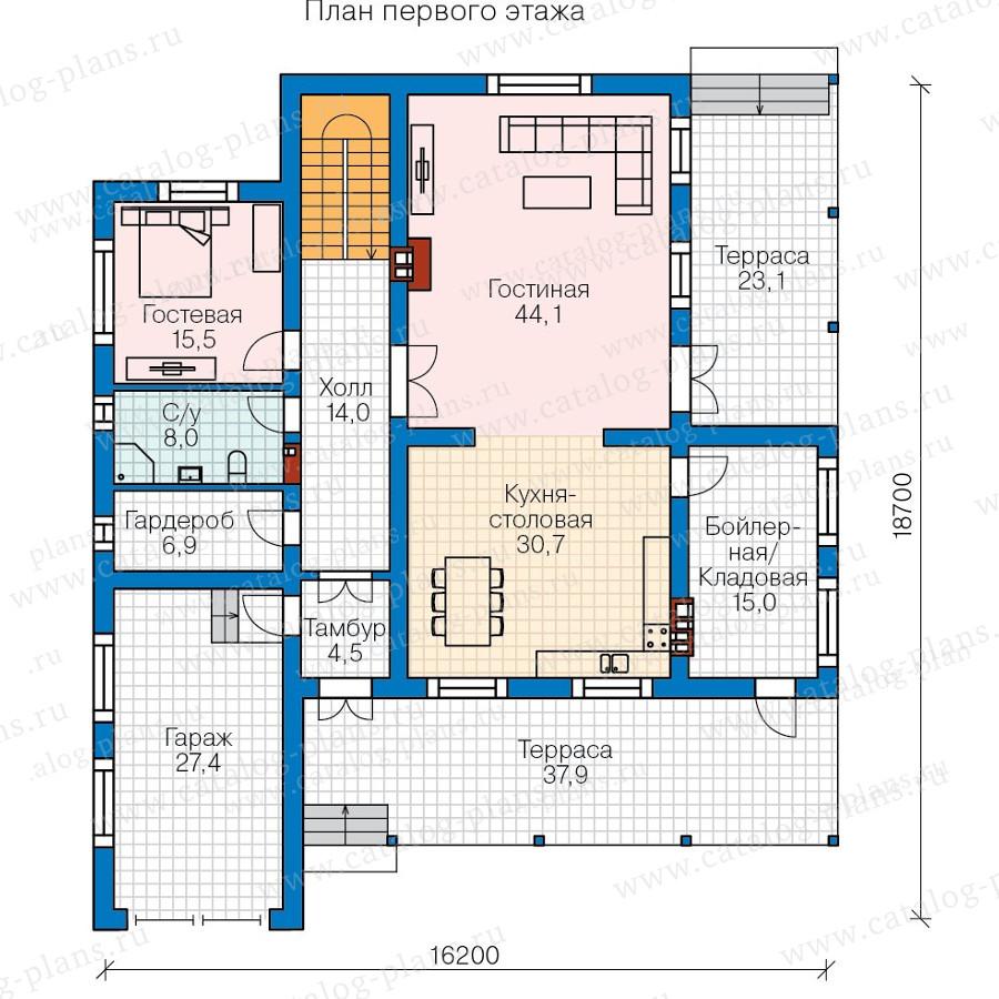 1этаж. План проекта №57-59
