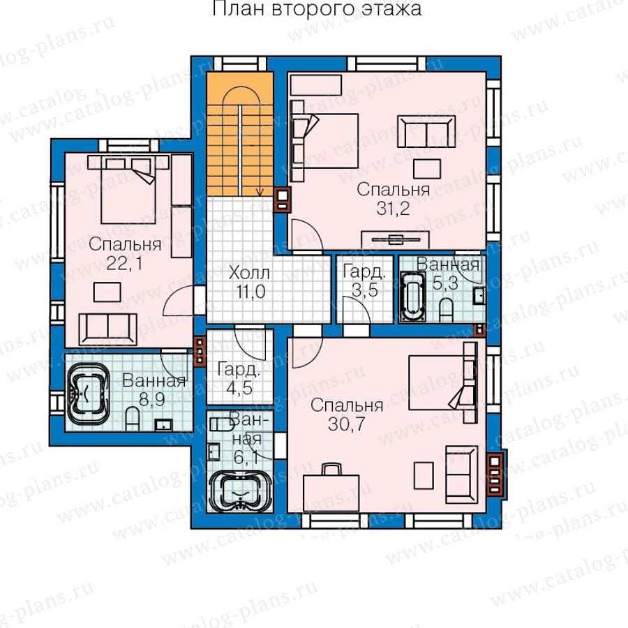 2этаж. План проекта №57-59