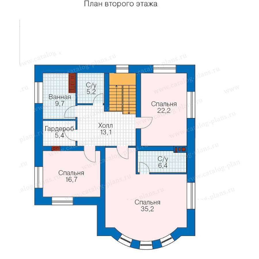 2этаж. План проекта №57-60A