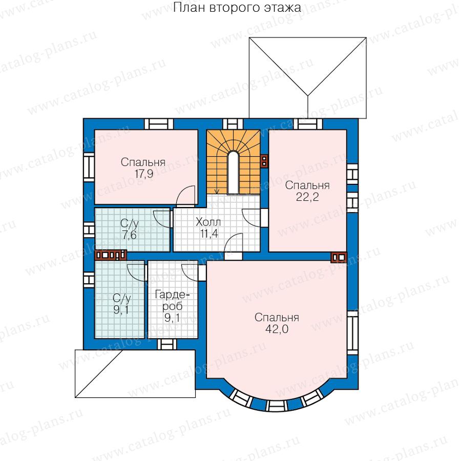 2этаж. План проекта №57-60B