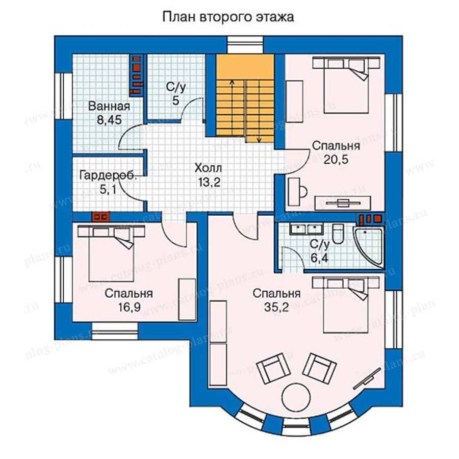 2этаж. План проекта №57-60K