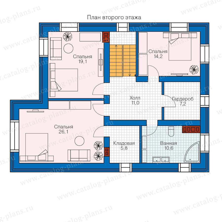 2этаж. План проекта №57-62K