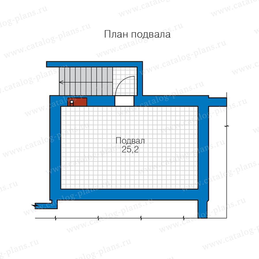 1этаж. План проекта №57-63BL