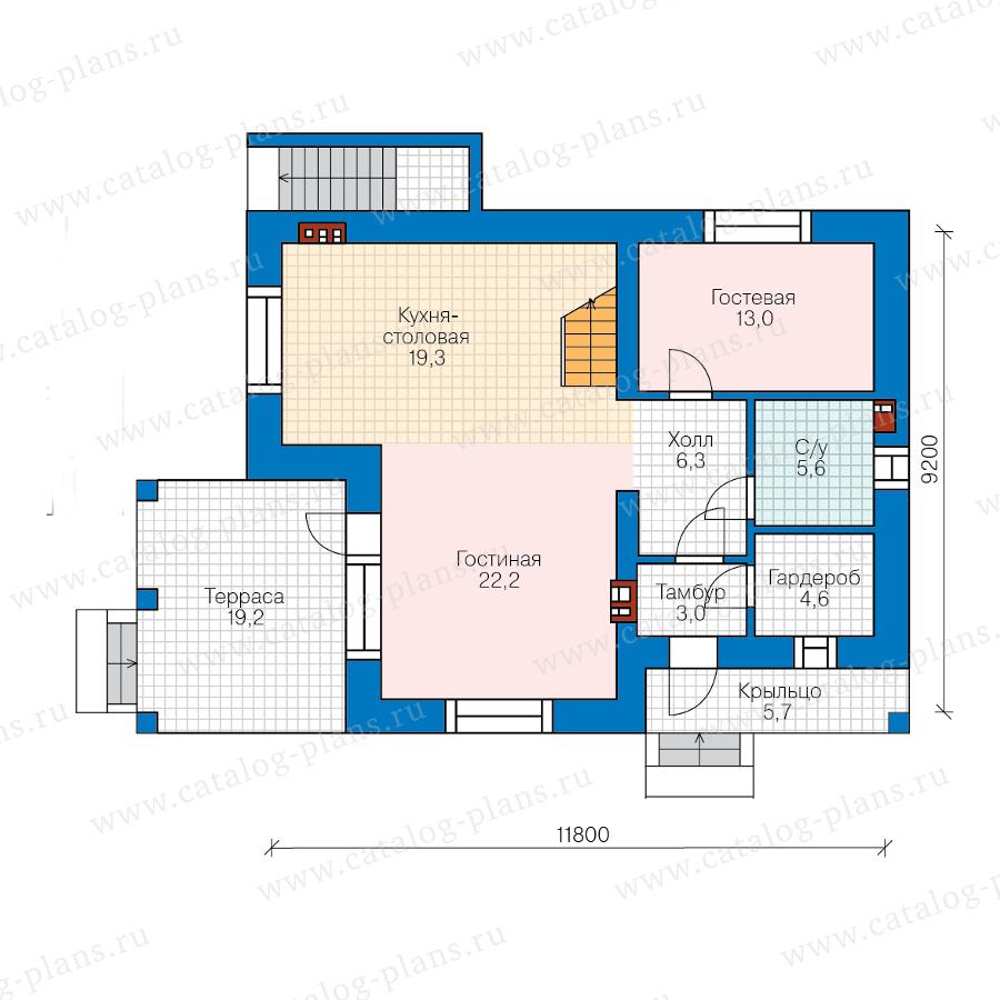 2этаж. План проекта №57-63BL