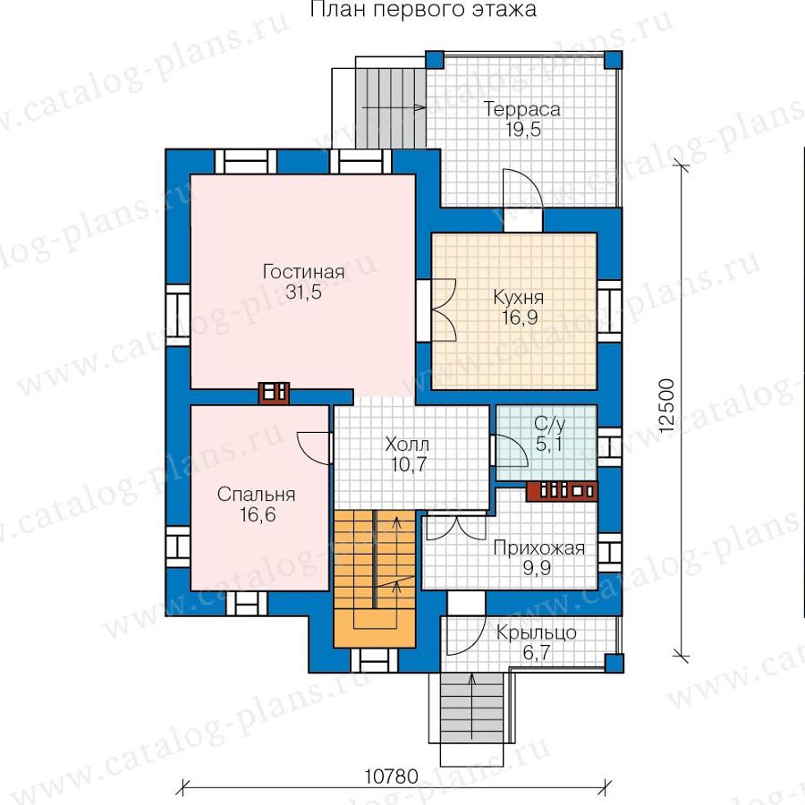 2этаж. План проекта №57-66