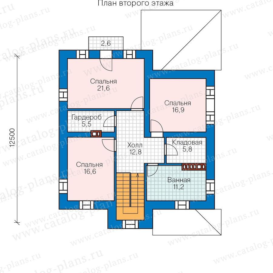 3этаж. План проекта №57-66