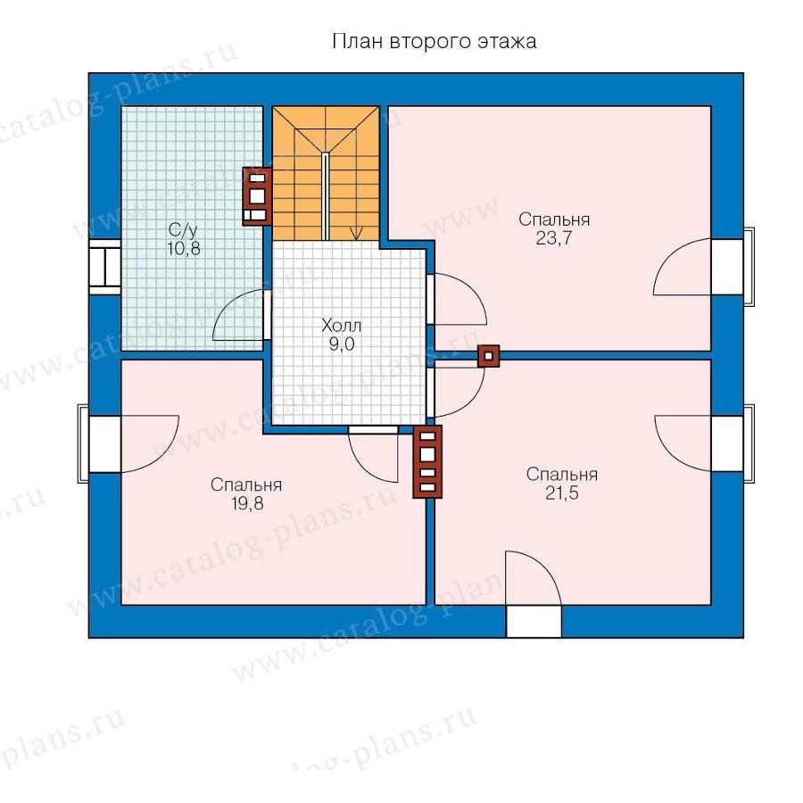 2этаж. План проекта №57-67