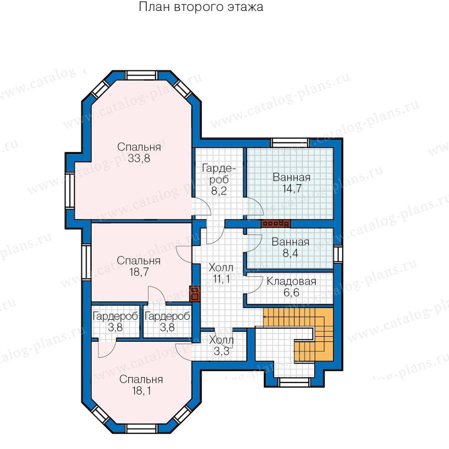 2этаж. План проекта №57-69