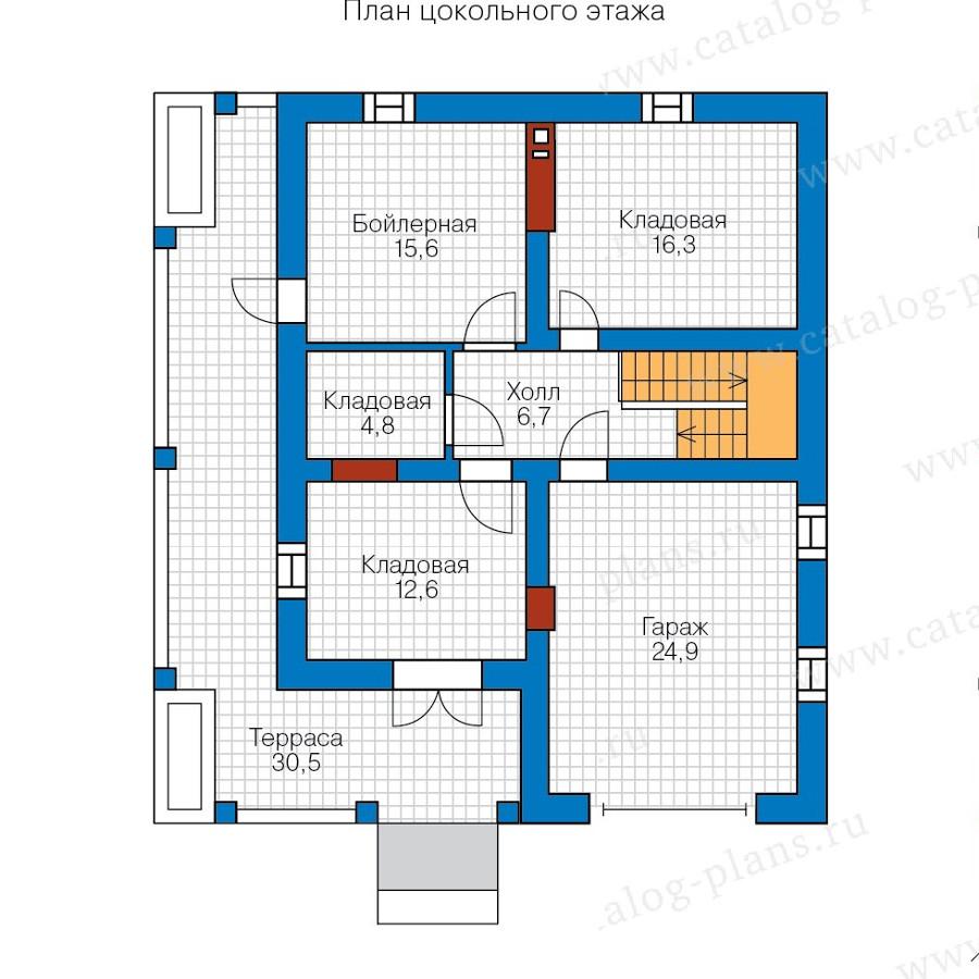 1этаж. План проекта №57-72