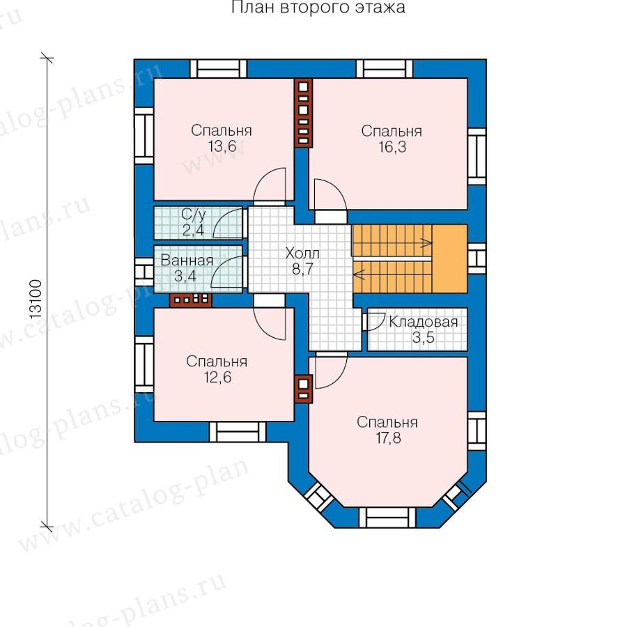 3этаж. План проекта №57-72