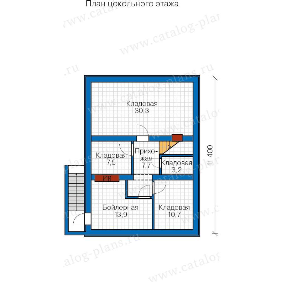 1этаж. План проекта №57-73