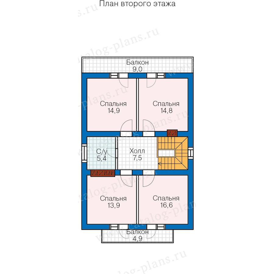 3этаж. План проекта №57-73
