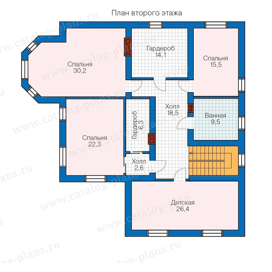 2этаж. План проекта №57-74