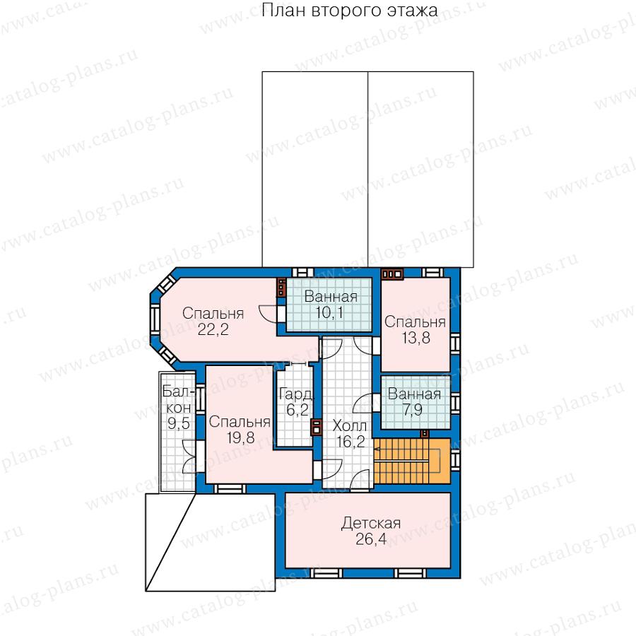 2этаж. План проекта №57-74B