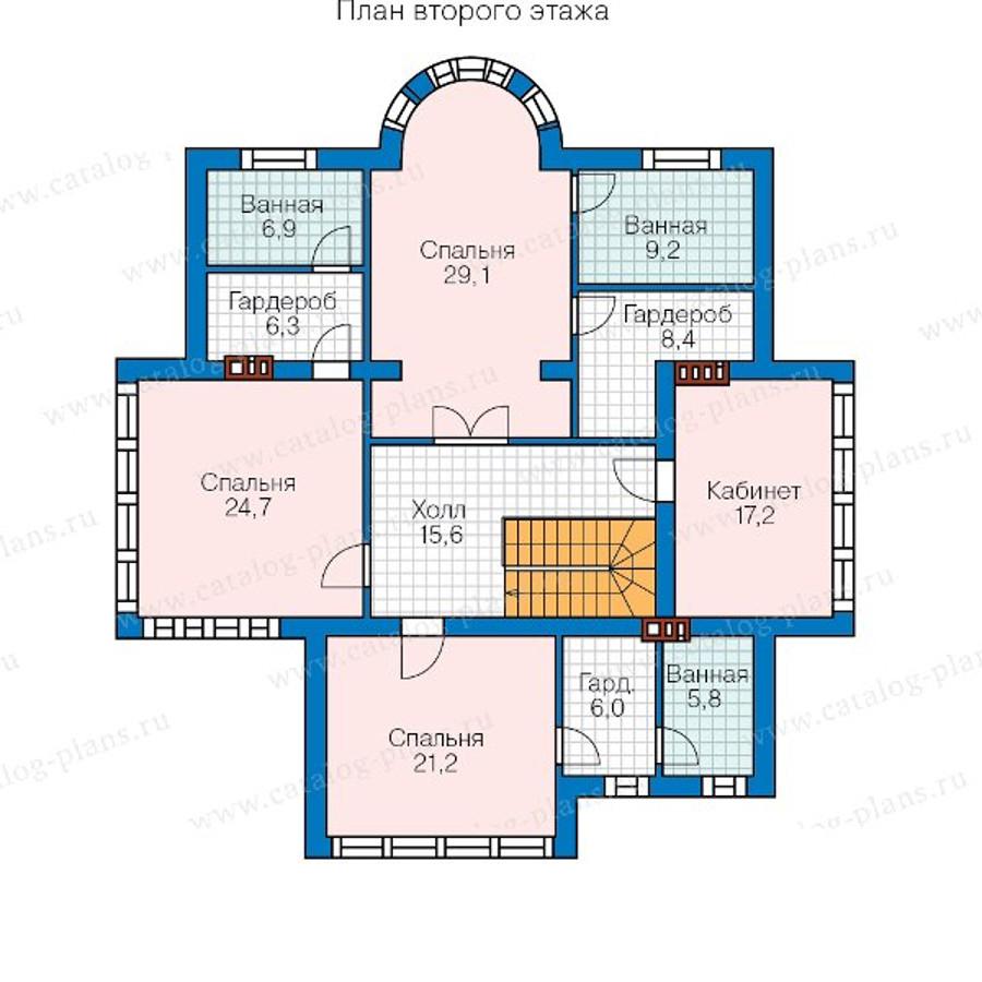 2этаж. План проекта №57-77A