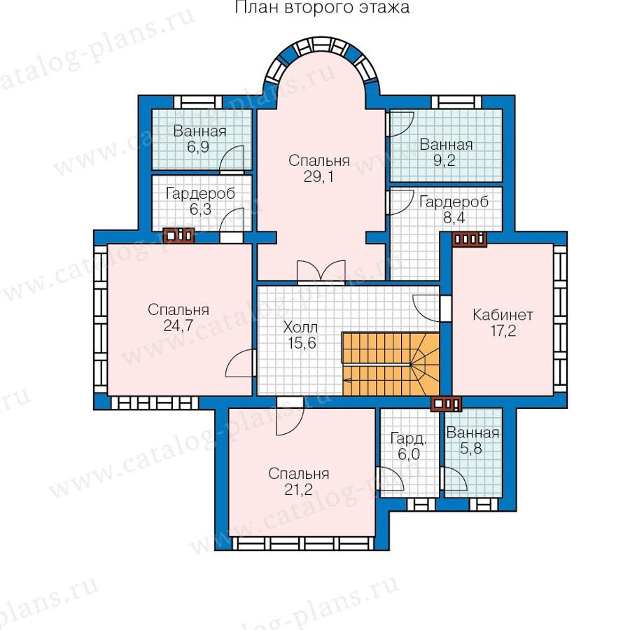 2этаж. План проекта №57-77AK