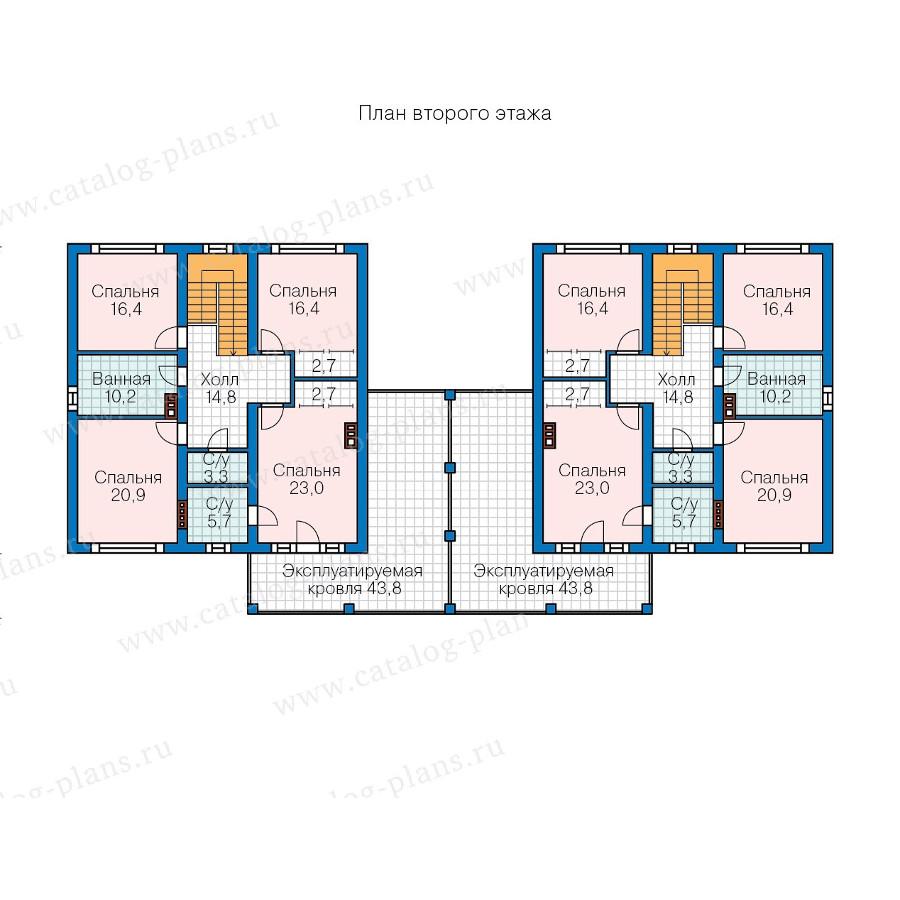 2этаж. План проекта №57-86K