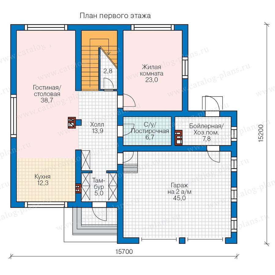 1этаж. План проекта №57-87K