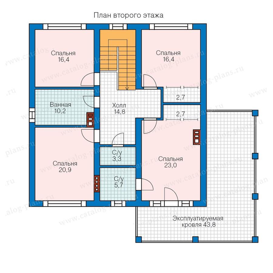 2этаж. План проекта №57-87K