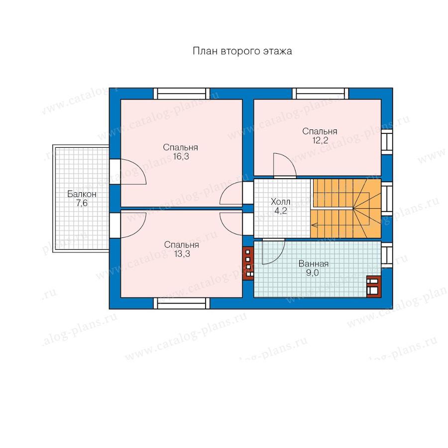 2этаж. План проекта №57-89K