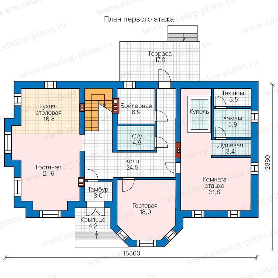 1этаж. План проекта №57-92A