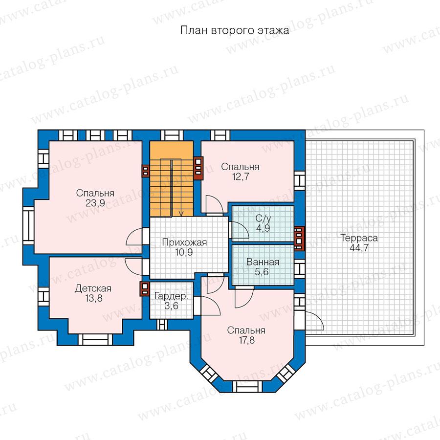 2этаж. План проекта №57-92A
