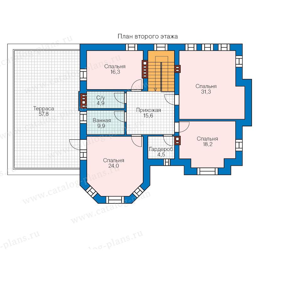 2этаж. План проекта №57-92K