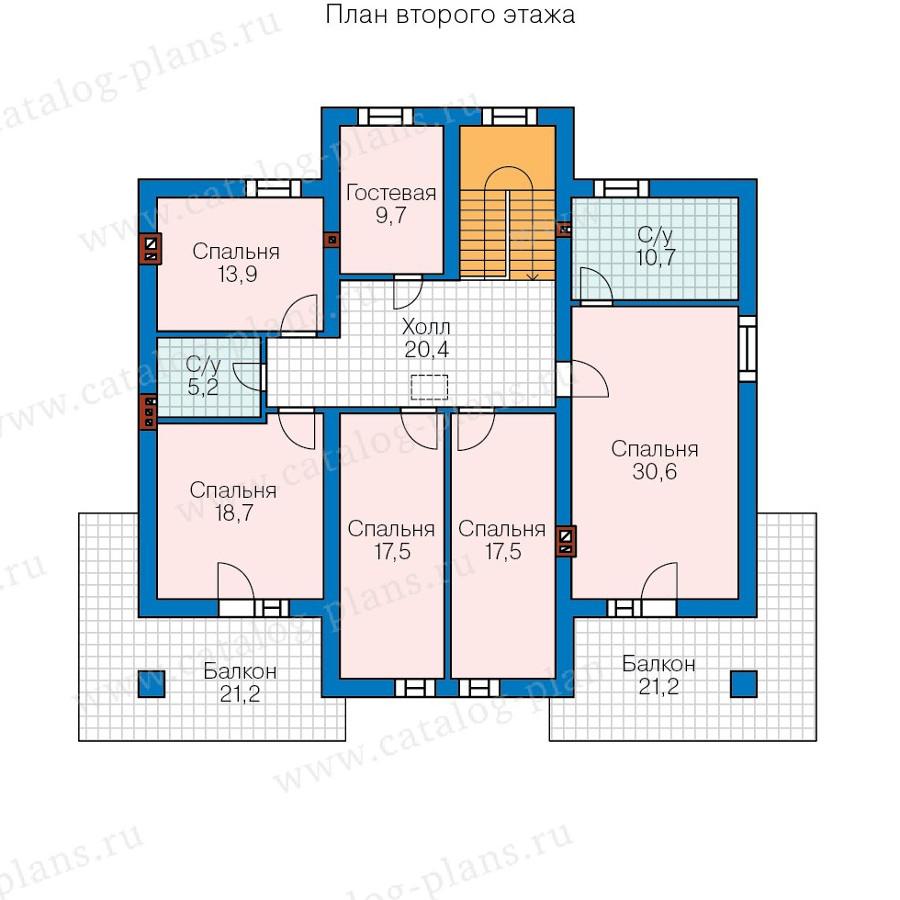 2этаж. План проекта №58-02