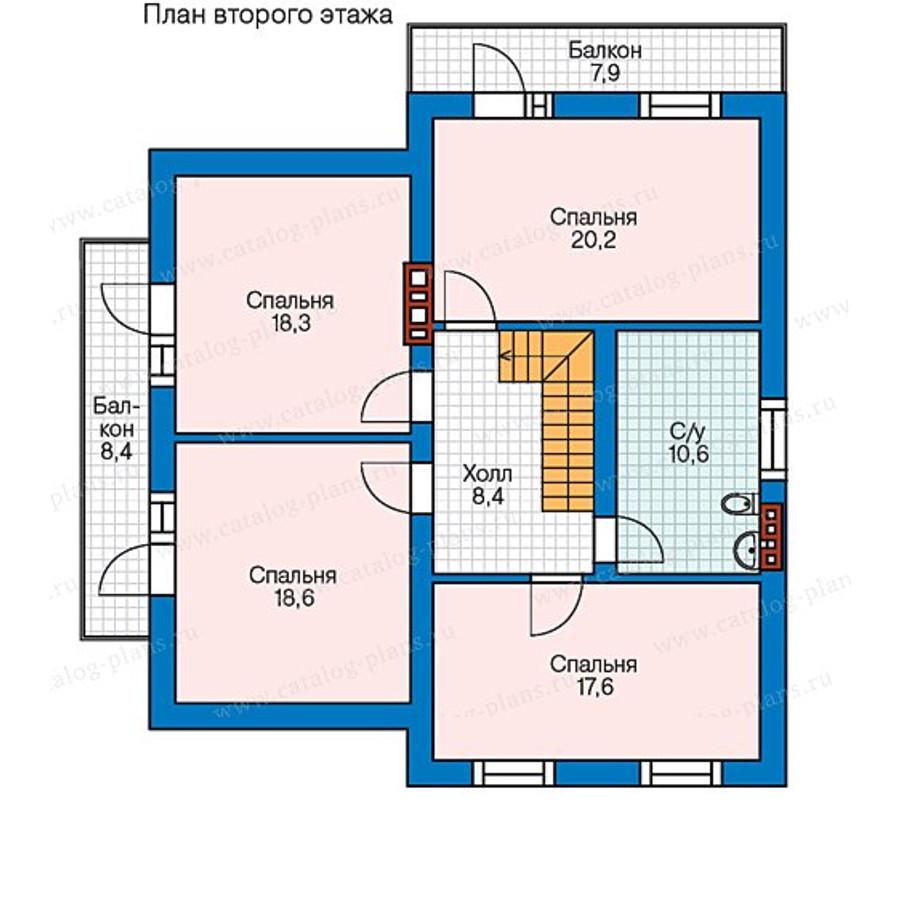2этаж. План проекта №58-04