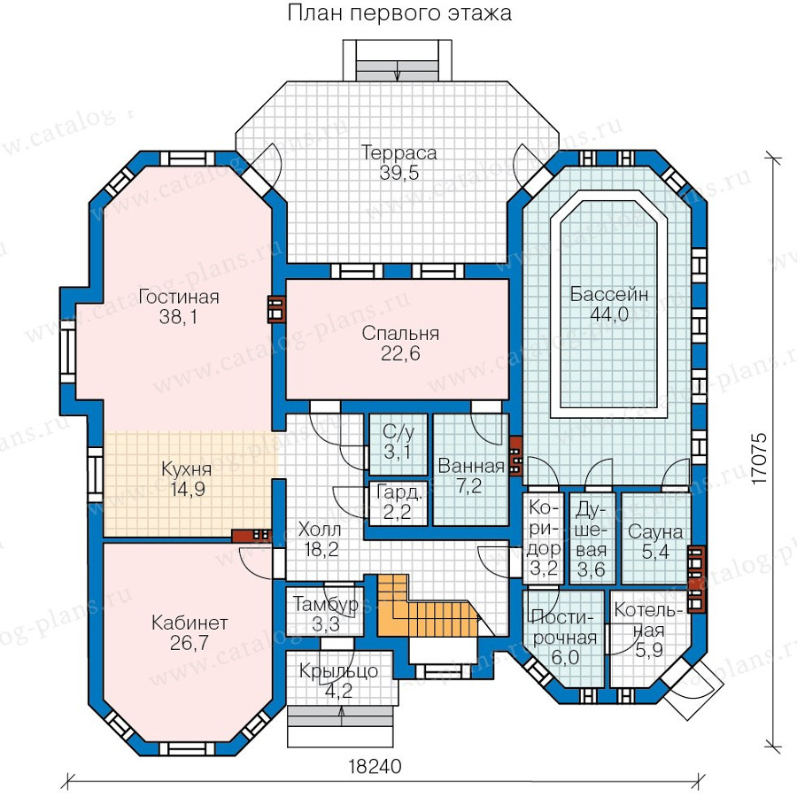 1этаж. План проекта №58-06