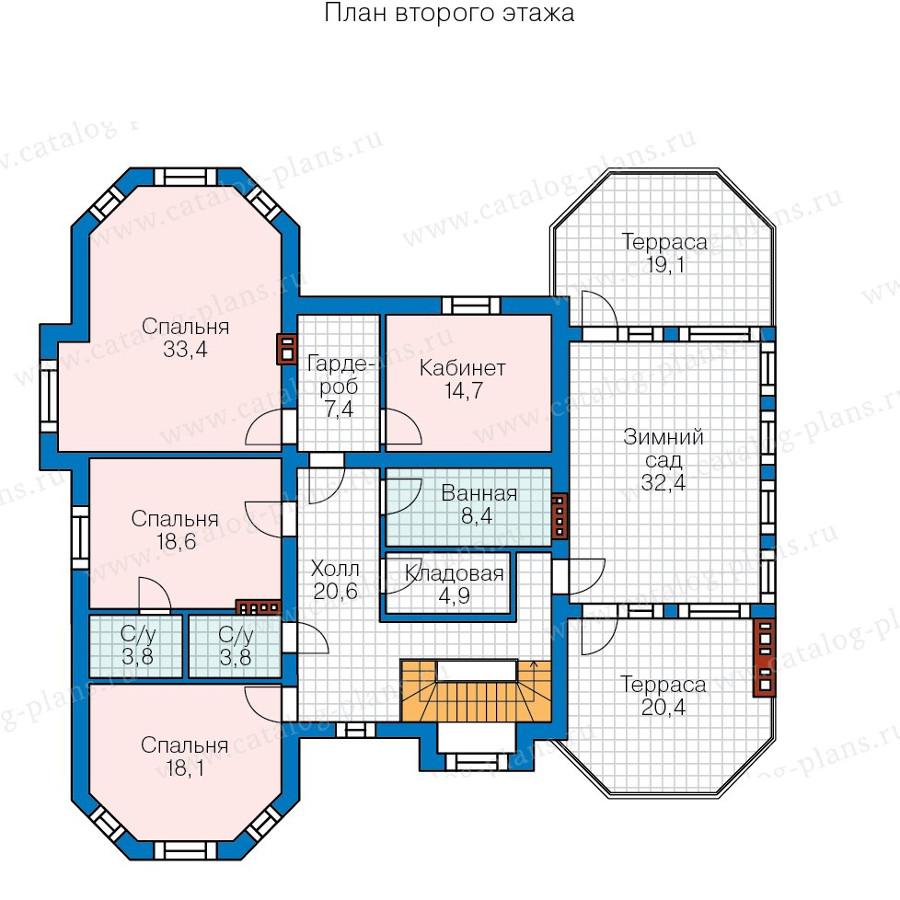 2этаж. План проекта №58-06K