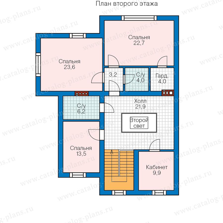 2этаж. План проекта №58-08