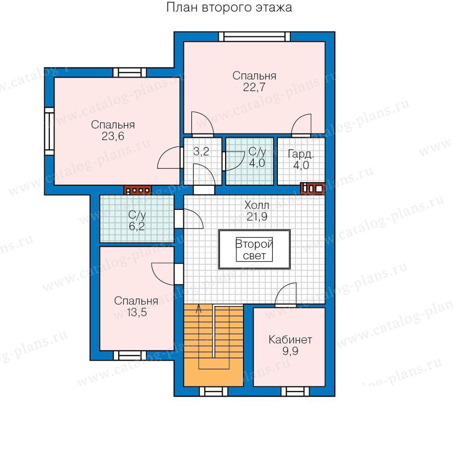 2этаж. План проекта №58-08K