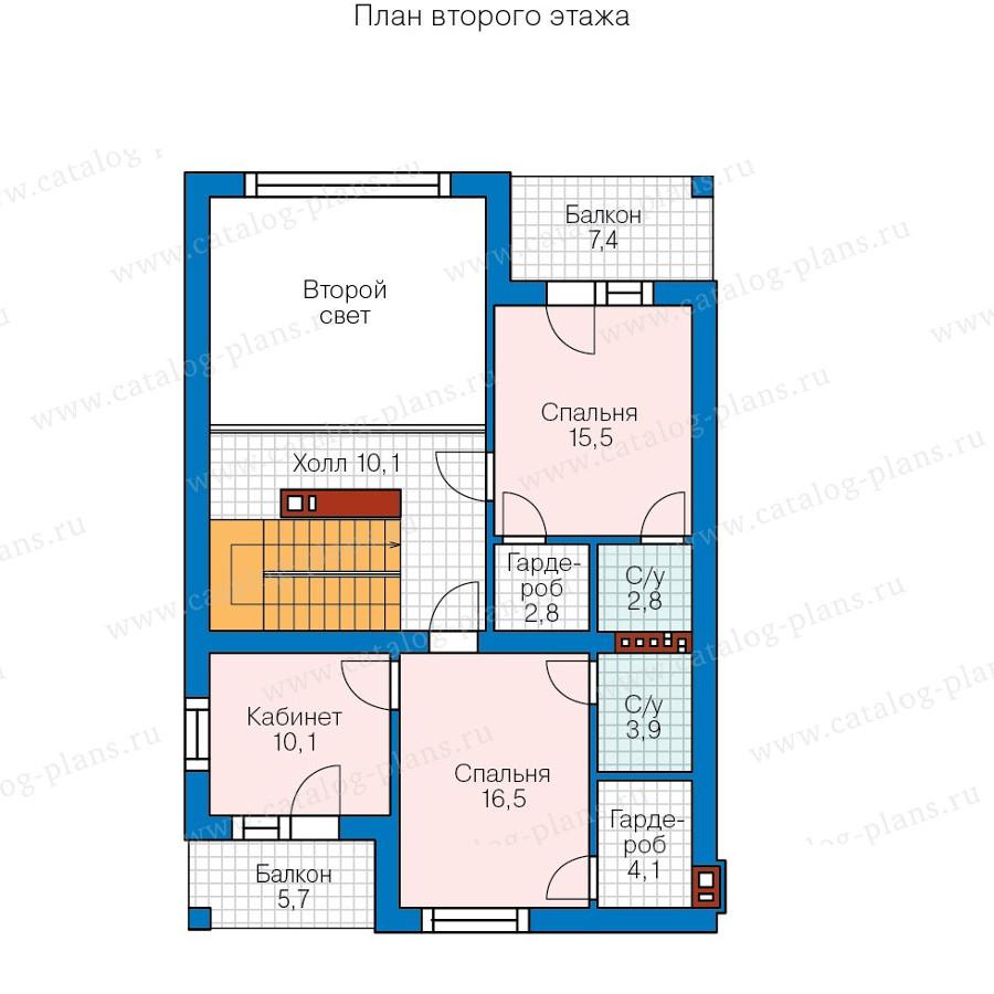 2этаж. План проекта №58-09K