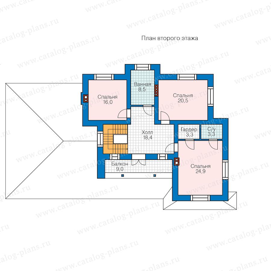 2этаж. План проекта №58-10AL