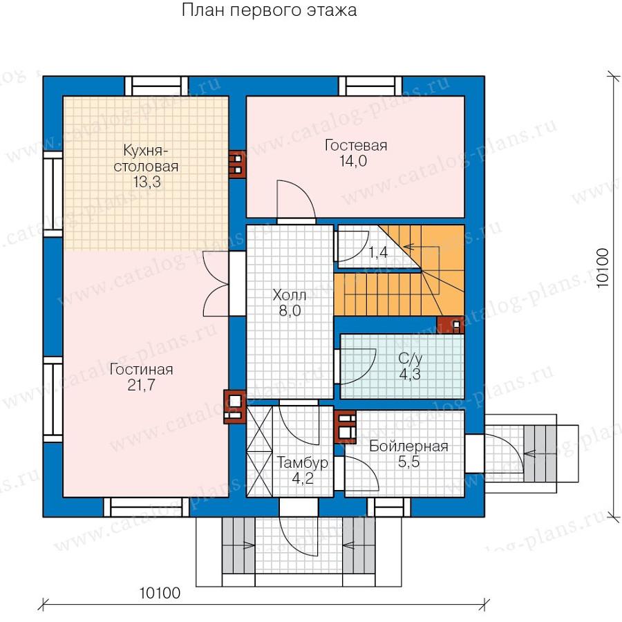 1этаж. План проекта №58-13