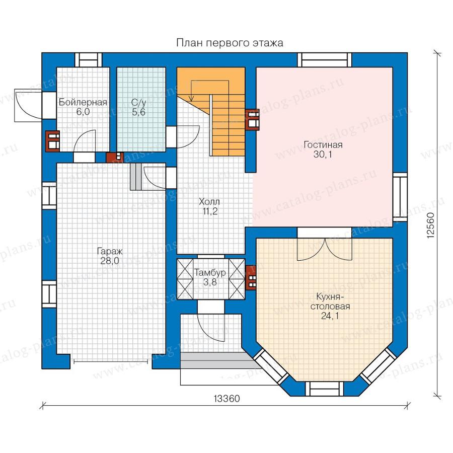 1этаж. План проекта №58-14L