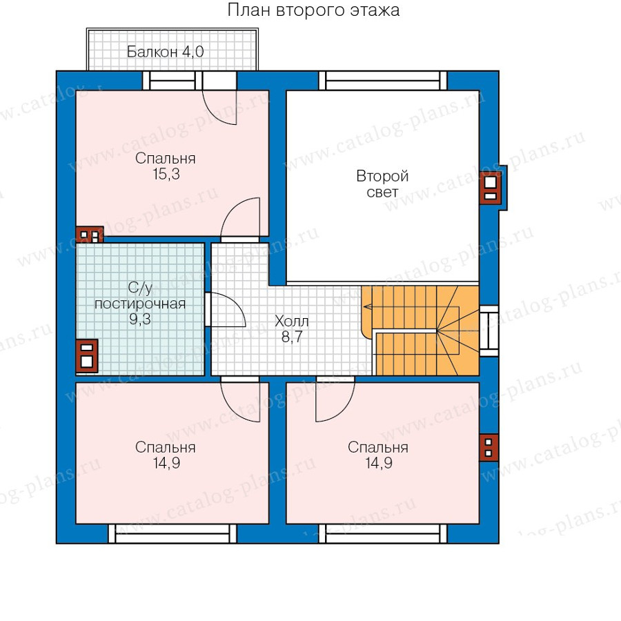 2этаж. План проекта №58-15