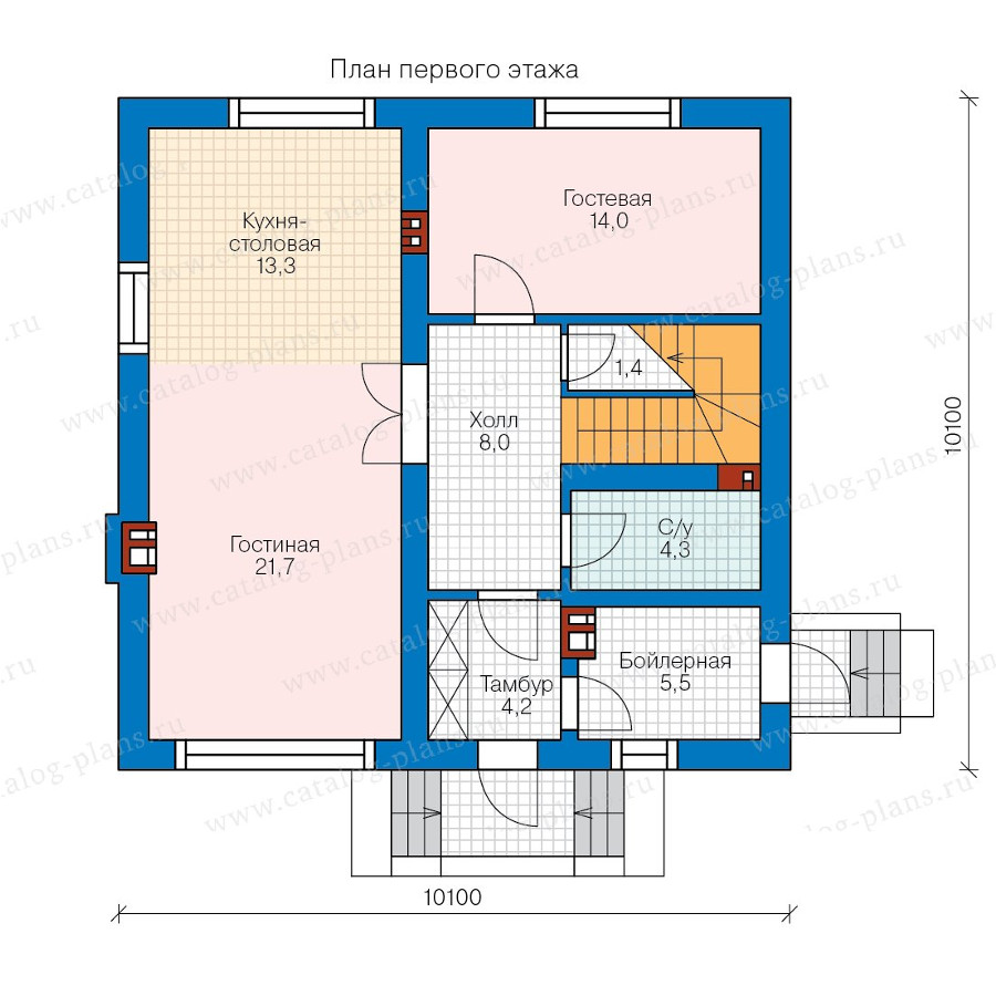 1этаж. План проекта №58-16