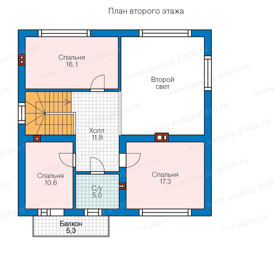 2этаж. План проекта №58-21