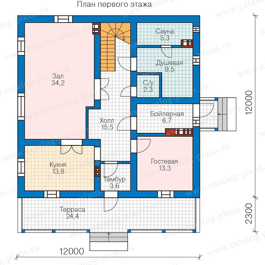 1этаж. План проекта №58-22B