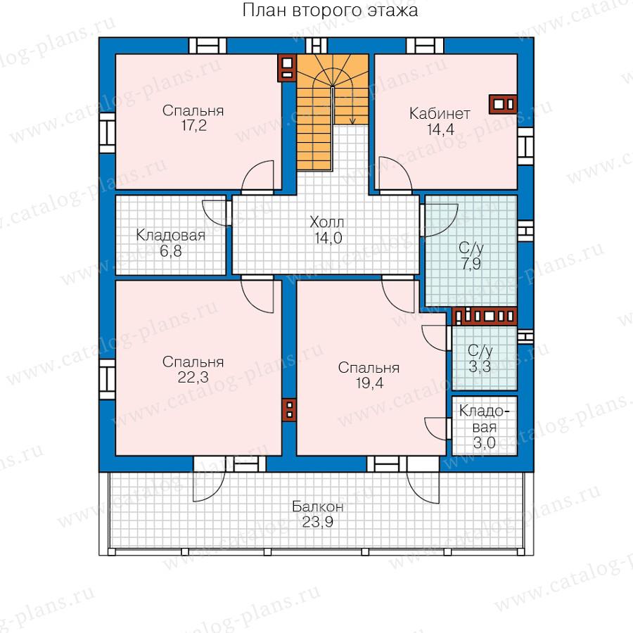 2этаж. План проекта №58-22B