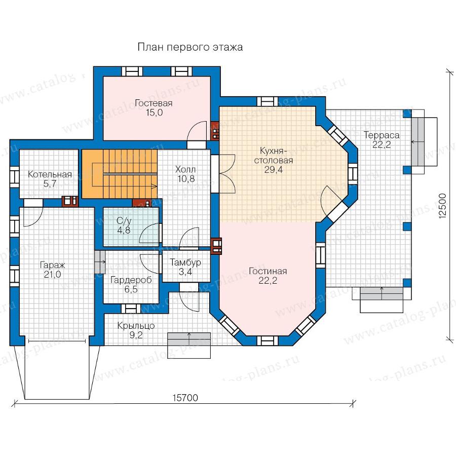 1этаж. План проекта №58-26
