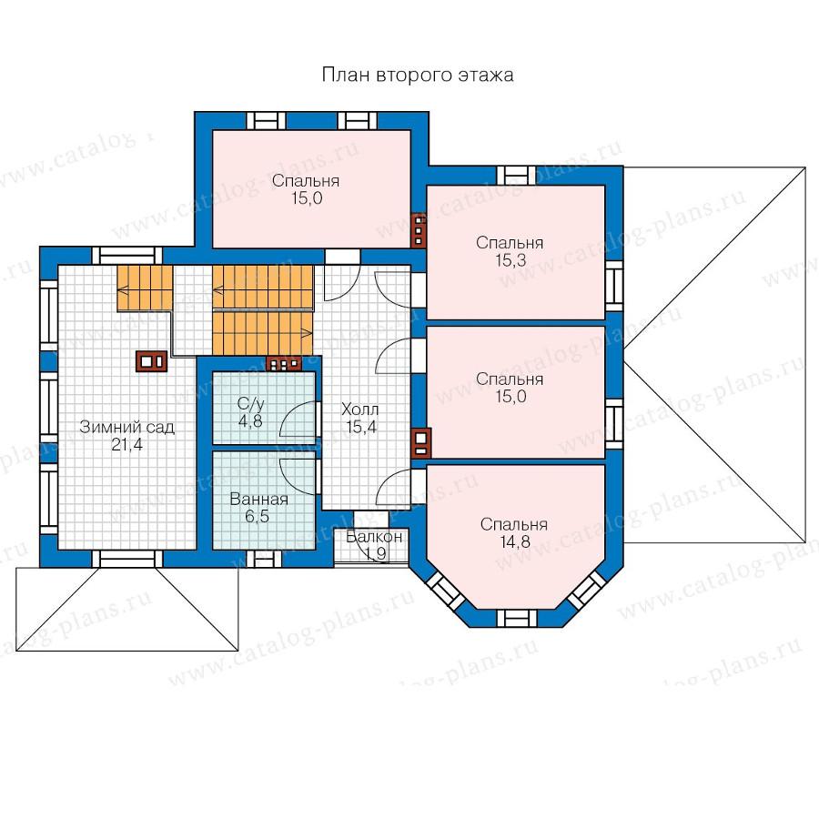 2этаж. План проекта №58-26